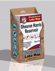 Shearon Harris Reservoir Waterproof Lake Map 1208