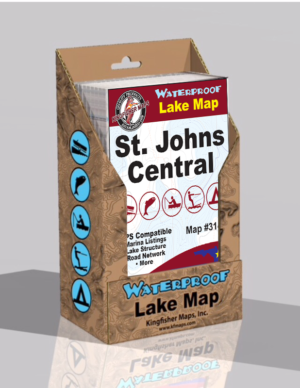 St Johns Central Waterproof Lake Map 314