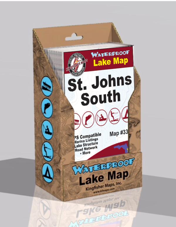 St Johns South Waterproof Lake Map 331