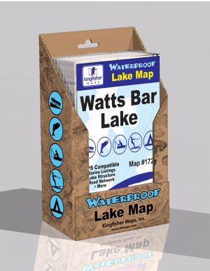 Watts Bar Lake Waterproof Lake Map 1726