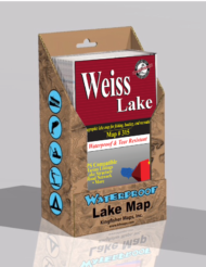 Weiss Lake Waterproof Lake Map 315