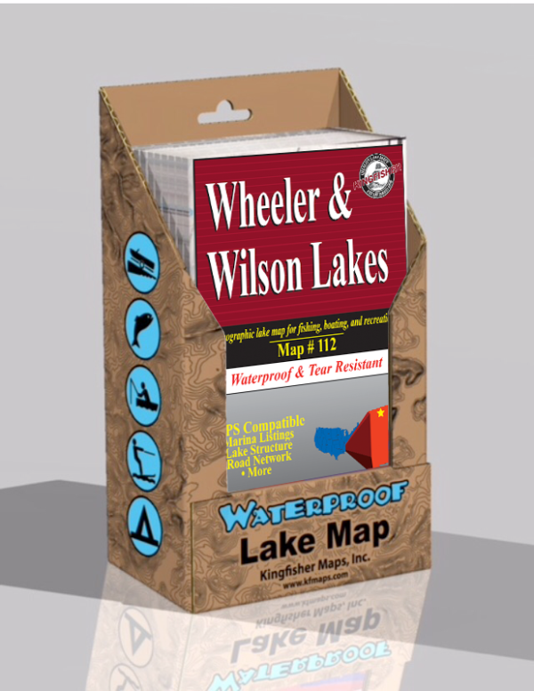 Wheeler Lake Wilson Lake Waterproof Lake Map 112