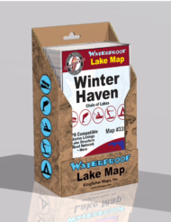 Winter Haven Chain of Lakes Waterproof Lake Map 335