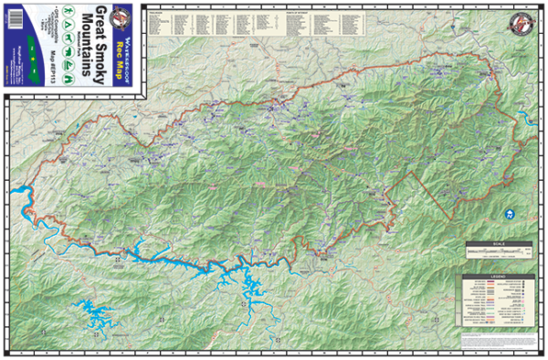 Great Smoky Mountains National Park Waterproof Map EP113
