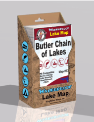 Butler Chain of Lakes Waterproof Lake Map 338