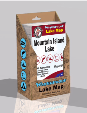 Mt Island Lake Waterproof Lake Map 347