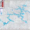 Yatesville Lake Waterproof Lake Map 820