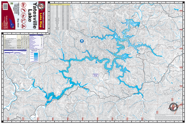 Yatesville Lake Waterproof Lake Map 820